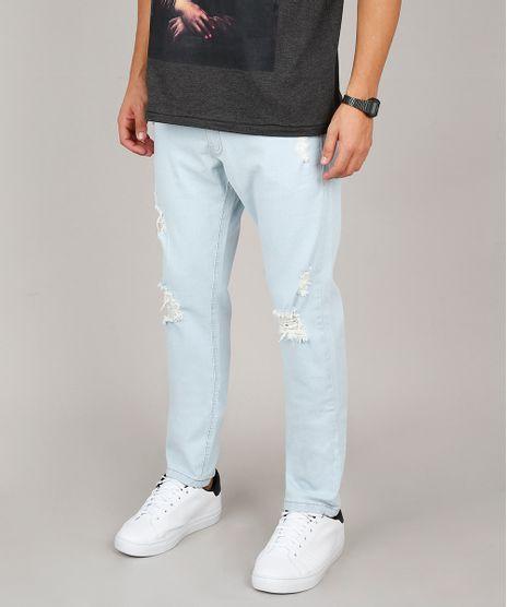 Calca-Jeans-Masculina-Slim-com-Rasgos-Azul-Claro-9607726-Azul_Claro_1