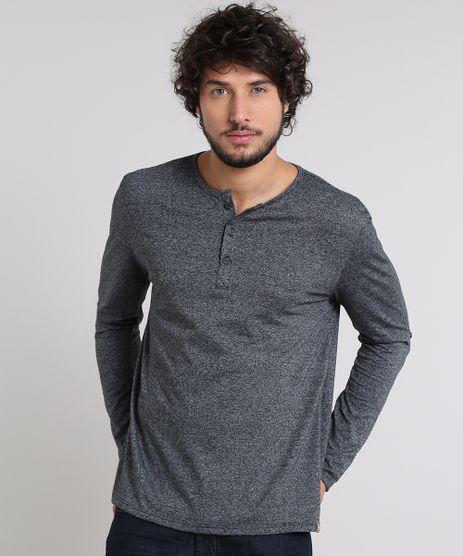 Camiseta-Masculina-com-Botoes-Manga-Longa-Gola-Careca-Cinza-Mescla-Escuro-9471102-Cinza_Mescla_Escuro_1