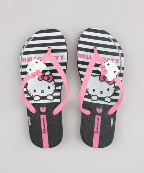 Chinelo-Infantil-Ipanema-Hello-Kitty-Estampado-Listrado-Preto-9666249-Preto_1