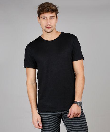 Camiseta-Masculina-Slim-Fit-Manga-Curta-Gola-Careca-Preta-9585881-Preto_1