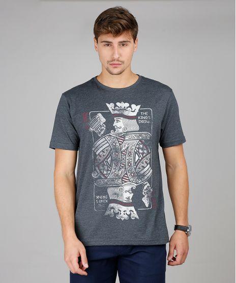 Camiseta-Masculina--The-King-s-Drink--Manga-Curta-Gola-Careca-Cinza-Mescla-Escuro-9592589-Cinza_Mescla_Escuro_1