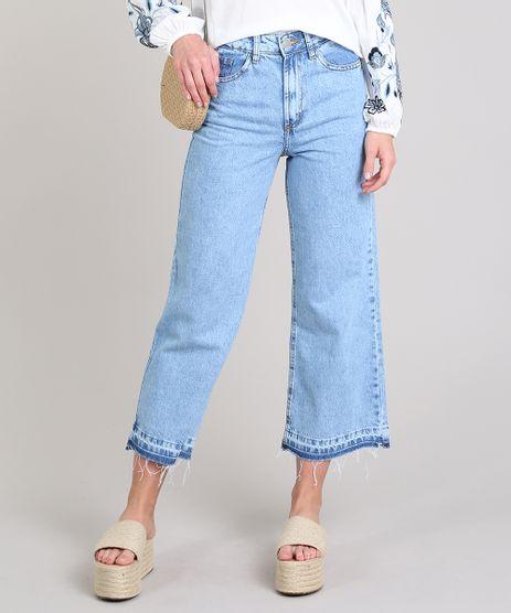 Calca-Jeans-Feminina-Pantacourt-com-Barra-Desfeita-Azul-Medio-9649245-Azul_Medio_1