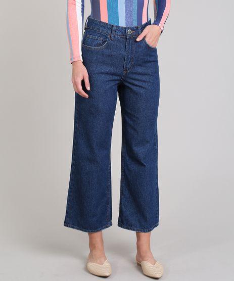 Calca-Jeans-Feminina-Pantacourt-com-Bolso-Azul-Escuro-9649246-Azul_Escuro_1