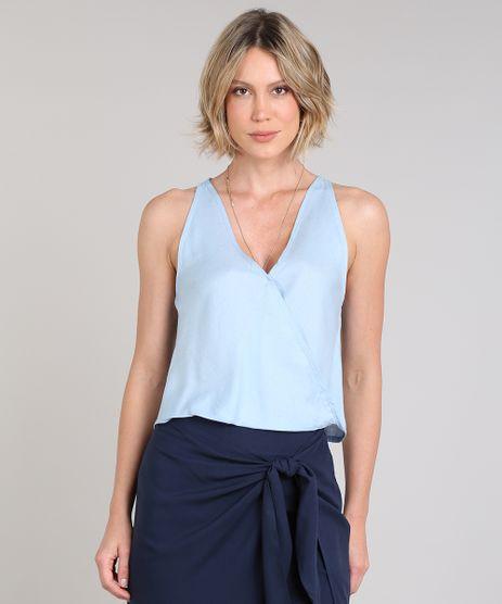 Regata-Feminina-com-Linho-e-Transpasse-Decote-V-Azul-Claro-9618379-Azul_Claro_1