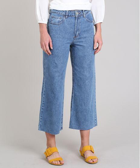 Calca-Jeans-Feminina-Pantacourt-Barra-Desfiada-Azul-Medio-9649247-Azul_Medio_1
