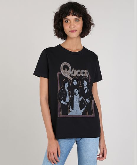 T-Shirt-Feminina-de-Banda-Mindset-Queen-Manga-Curta-Decote-Redondo-Preta-9696346-Preto_1