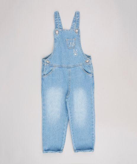 Macacao-Jeans-Infantil-com-Bordado-de-Guaxinim-e-Bolso-Azul-Claro-9586749-Azul_Claro_1