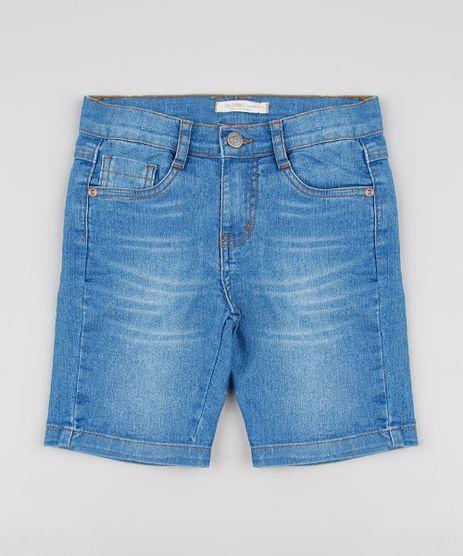 Bermuda-Jeans-Infantil-Slim-com-Bolsos-Azul-Claro-9591170-Azul_Claro_1