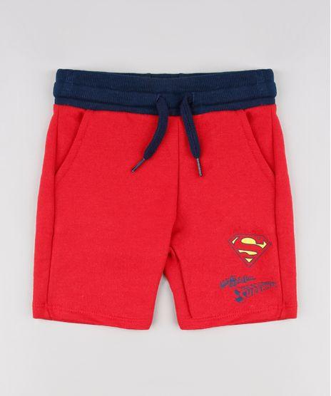 Bermuda-Infantil-Super-Homem-em-Moletom-Vermelha-9618724-Vermelho_1