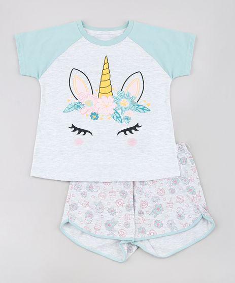 Pijama-Infantil-Unicornio-Raglan-Manga-Curta-Cinza-Mescla-Claro-9629794-Cinza_Mescla_Claro_1