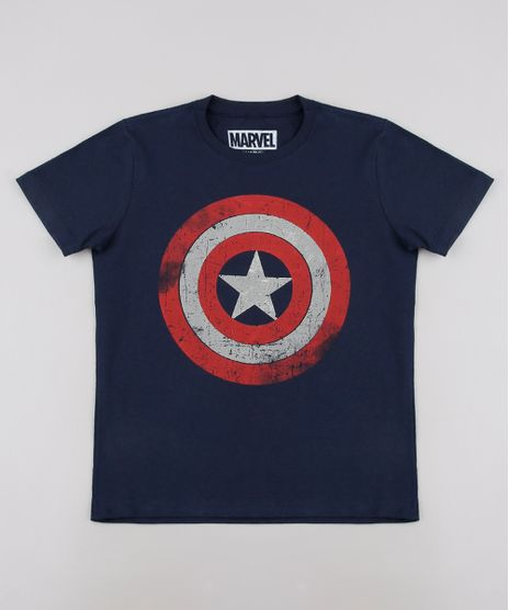 Camiseta-Infantil-Capitao-America-Tal-pai-Tal-Filho-Manga-Curta--Azul-Marinho-9681417-Azul_Marinho_1