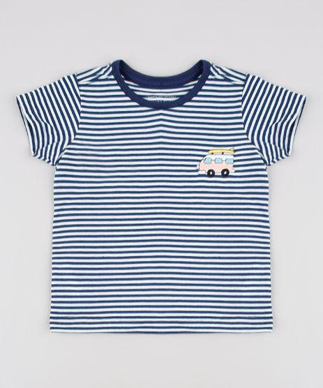 Camiseta-Infantil-Listrada-com-Bordados-Manga-Curta--Azul-Marinho-9638044-Azul_Marinho_1
