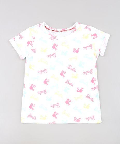 Blusa-Infantil-Barbie-Estampada-Manga-Curta--Branca-9653918-Branco_1