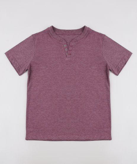 Camiseta-Infantil-com-Botoes-Manga-Curta--Vinho-9684343-Vinho_1