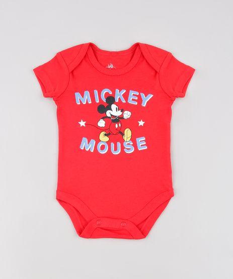 Body-Infantil-Mickey-Mouse-Manga-Curta--Vermelho-9448780-Vermelho_1