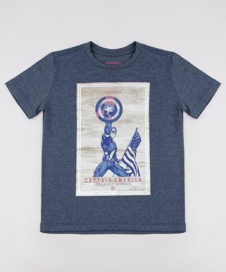 Camiseta-Infantil-Capitao-America-Tal-pai-Tal-Filho-Manga-Curta--Cinza-Mescla-9673732-Cinza_Mescla_1