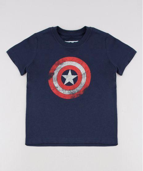 Camiseta-Infantil-Capitao-America-Tal-pai-Tal-Filho-Manga-Curta--Azul-Marinho-9681418-Azul_Marinho_1