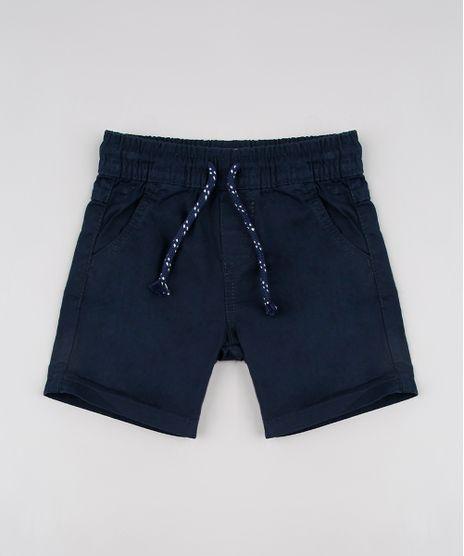 Bermuda-de-Sarja-Infantil-com-Cordao-e-Bolsos-Azul-Marinho-9632289-Azul_Marinho_1