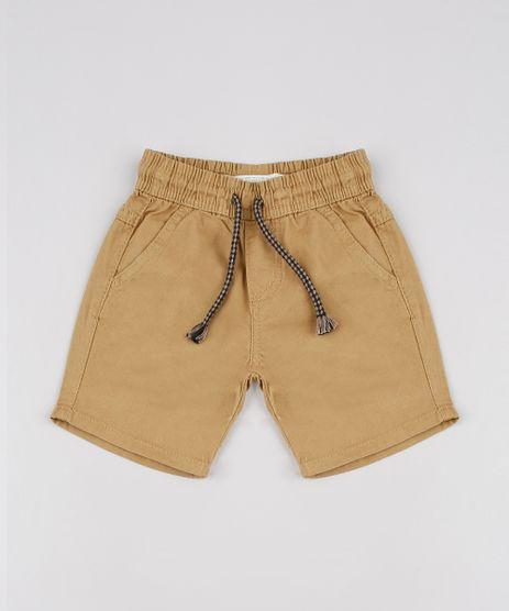 Bermuda-de-Sarja-Infantil-com-Cordao-e-Bolsos-Caramelo-9632289-Caramelo_1