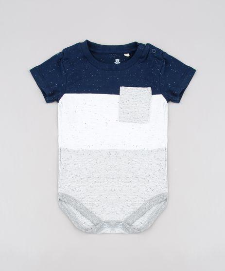 Body-Infantil-Botone-com-Recorte-e-Bolsos-Manga-Curta--Cinza-9612921-Cinza_1