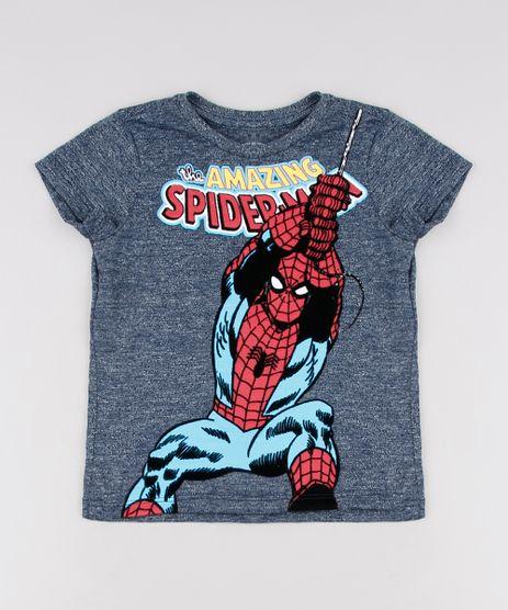 Camiseta-Infantil-Homem-Aranha-Manga-Curta--Azul-9629777-Azul_1