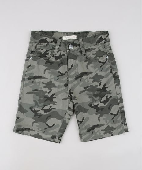 Bermuda-de-Sarja-Infantil-Estampada-Camuflada-Verde-Militar-9641332-Verde_Militar_1