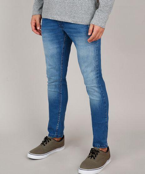 Calca-Jeans-Masculina-Slim-com-Puidos-Azul-Medio-9599256-Azul_Medio_1