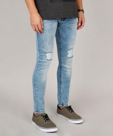 Calca-Jeans-Masculina-Skinny-com-Rasgos-Azul-Medio-9600054-Azul_Medio_1