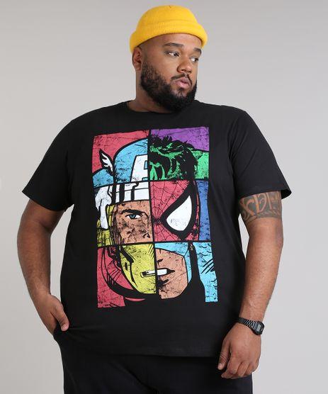 Camiseta-Masculina-Plus-Size-Os-Vingadores-Manga-Curta-Gola-Careca-Preta-9680997-Preto_1