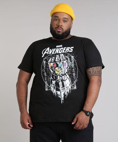 Camiseta-Masculina-Plus-Size-Manopla-Os-Vingadores-Manga-Curta-Gola-Careca-Preta-9680996-Preto_1