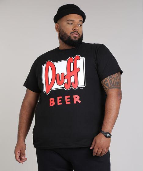 6f9868420 Camiseta Masculina Plus Size Duff Beer Os Simpsons Manga Curta Gola ...