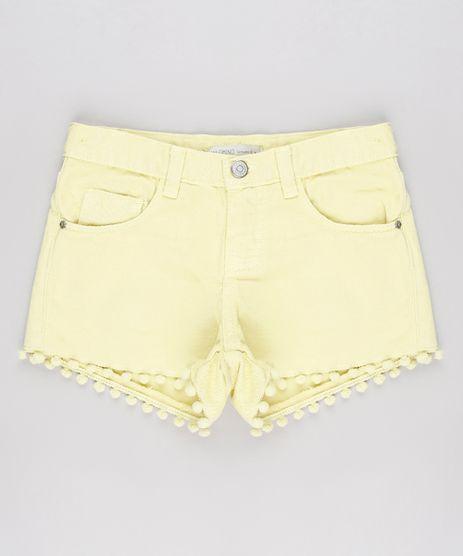 Short-de-Sarja-Infantil-com-Pompom-Amarelo-9619590-Amarelo_1