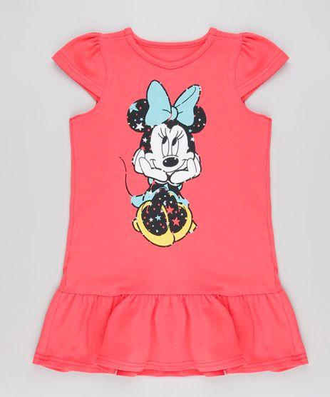 Vestido-Infantil-Minnie-Manga-Curta-Coral-9083937-Coral_1