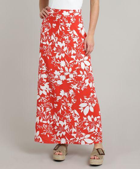 Saia-Feminina-Longa-Estampada-Floral-Vermelha-9548725-Vermelho_1