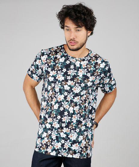 Camiseta-Masculina-Comfort-Fit-Estampada-Floral-Manga-Curta-Gola-Careca-Azul-Marinho-9607436-Azul_Marinho_1