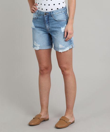 Bermuda-Jeans-Feminina-Midi-Destroyed-Azul-Claro-9664035-Azul_Claro_1