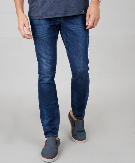 Calca-Jeans-Masculina-Slim-Com-Bolsos-Azul-Escuro-9633224-Azul_Escuro_1