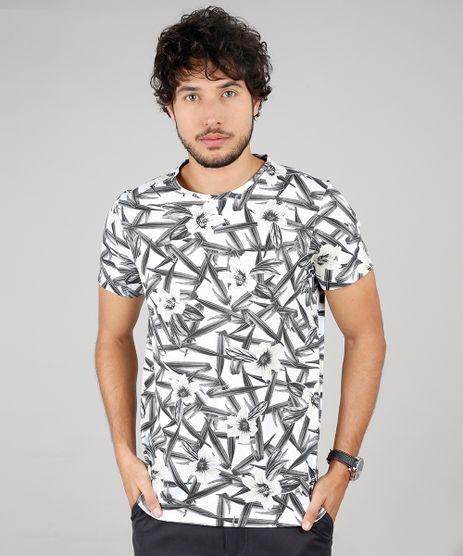 Camiseta-Masculina-Slim-Fit-Estampada-Floral-Manga-Curta-Gola-Careca-Off-White-9592919-Off_White_1
