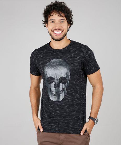 Camiseta-Masculina-Slim-Fit-com-Estampa-de-Caveira-Manga-Curta-Gola-Careca-Preta-9607473-Preto_1