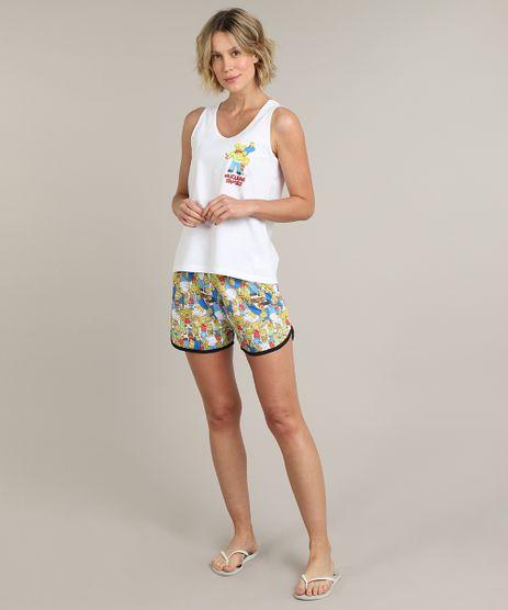 Pijama-Regata-Infantil-Tal-Mae-Tal-Filha-Os-Simpsons--Off-White-9660270-Off_White_1