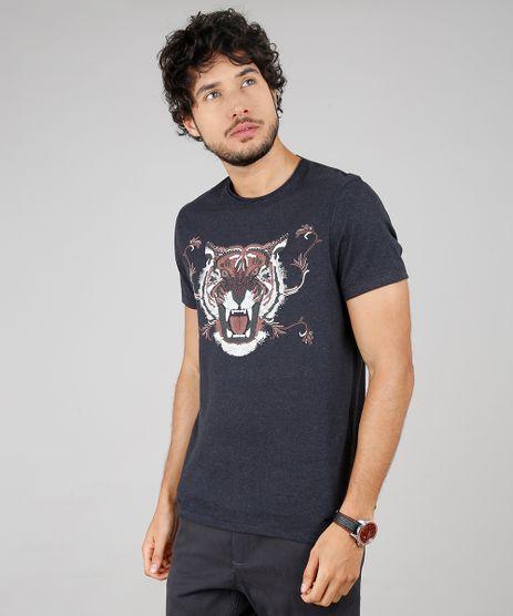Camiseta-Masculina-Tigre-Manga-Curta-Gola-Careca-Cinza-Mescla-Escuro-9603049-Cinza_Mescla_Escuro_1