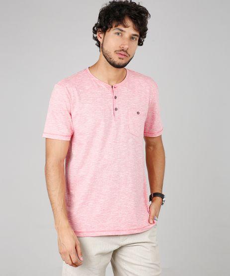 Camiseta-Masculina-com-Botoes-e-Bolso-Manga-Curta-Gola-Careca-Vermelha-9605036-Vermelho_1