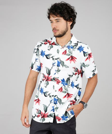 Camisa-Masculina-Relaxed-Estampada-Floral-Manga-Curta-Off-White-9593481-Off_White_1