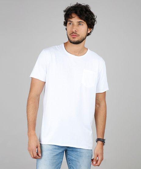 Camiseta-Masculina-Basica-com-Bolso-Manga-Curta-Gola-Careca-Branca-9594430-Branco_1