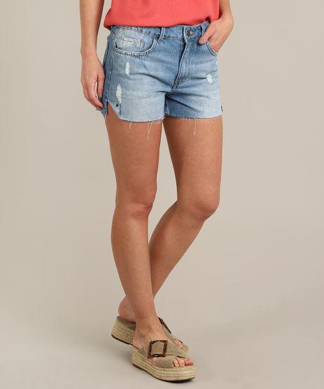 Short-Jeans-Feminino-Vintage-com-Rasgos-Azul-Claro-9573596-Azul_Claro_1