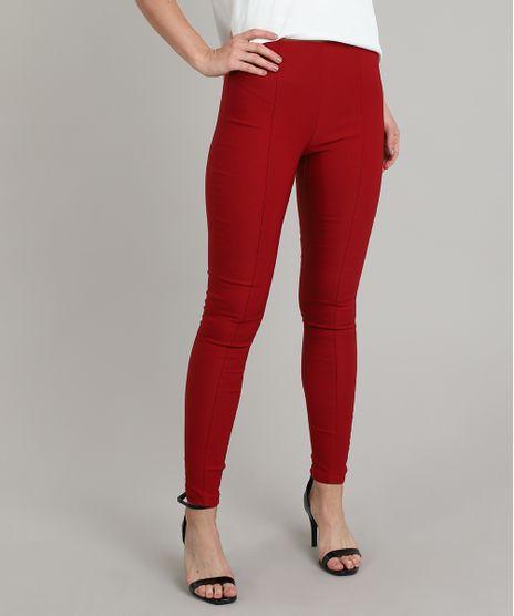 Calca-Legging-Basica-Feminina-com-Frisos-Vermelha-9408996-Vermelho_1