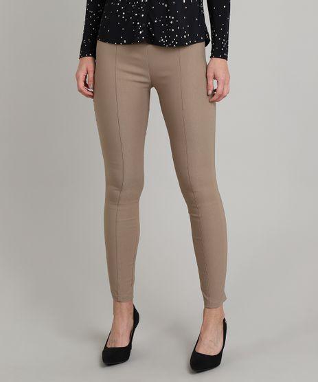 Calca-Legging-Basica-Feminina-com-Frisos-Kaki-9408996-Kaki_1