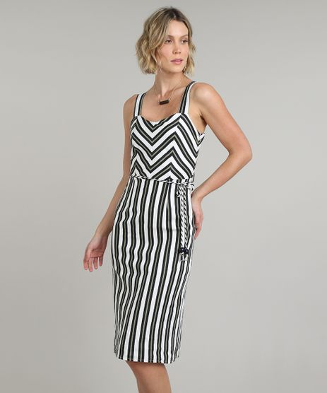 Vestido-Feminino-em-Linho-Midi-Estampado-Listrado-Alca-Media-com-Cinto-Off-White-9541692-Off_White_1