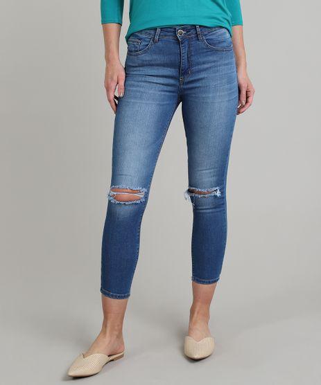 Calca-Jeans-Feminina-Skinny-Cropped-com-Rasgo-Azul-9666385-Azul_1