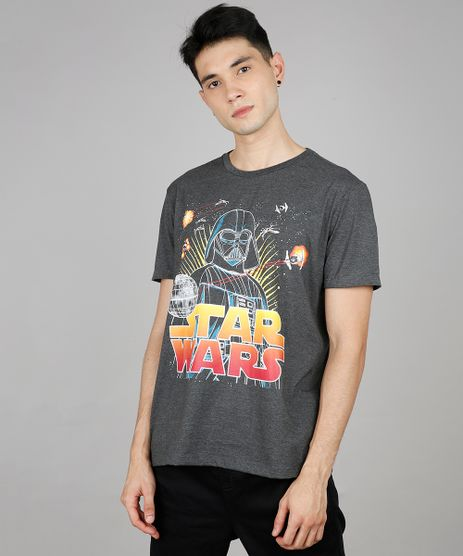 Camiseta-Masculina-Star-Wars-Manga-Curta-Gola-Careca-Cinza-Mescla-Escuro-9639881-Cinza_Mescla_Escuro_1